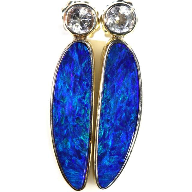 Modern design Opal Doublet Earring CF1469