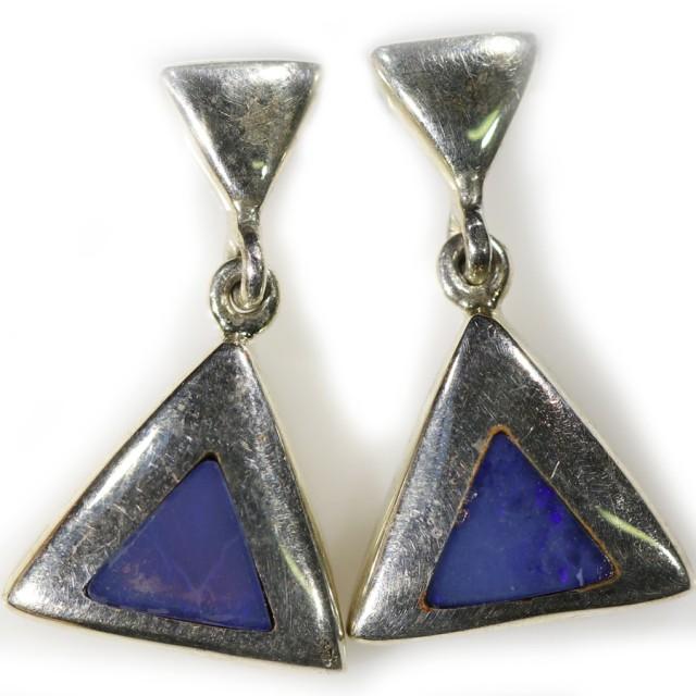 Inlay opal earrings set in silver CF1474