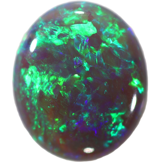 2.05 CTS BLACK CRYSTAL OPAL FROM LIGHTNING RIDGE [SO9613] SAFE