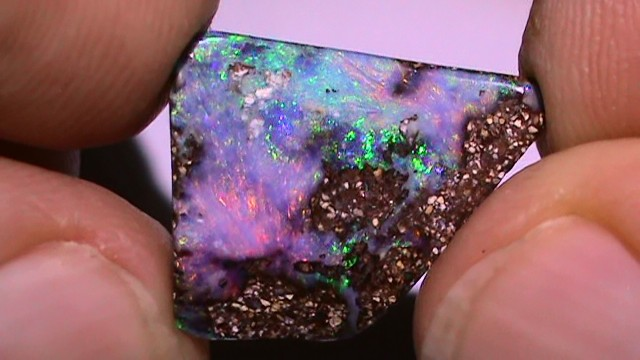 8.05 ct Beautiful Multi Color Natural Queensland Boulder Opal