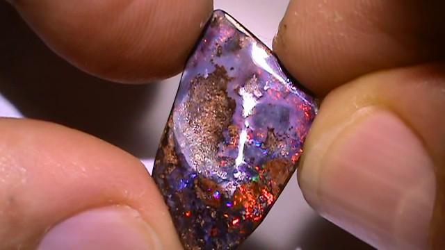 8.75 ct Gem Multi Color Natural Queensland Boulder Opal