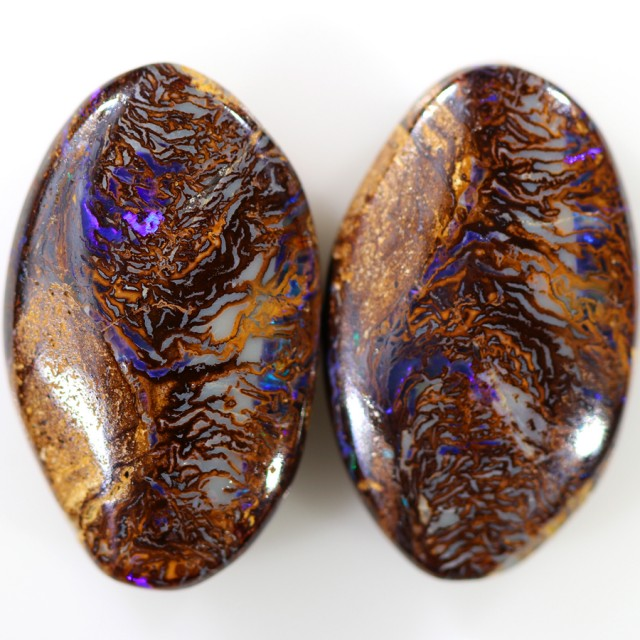 26.10 CTS BOULDER OPAL PAIR  [SO9641]