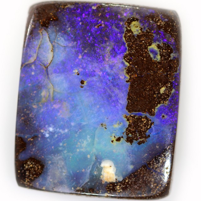26.85 CTS WELL POLISHED BOULDER OPAL STONE [SO9648]