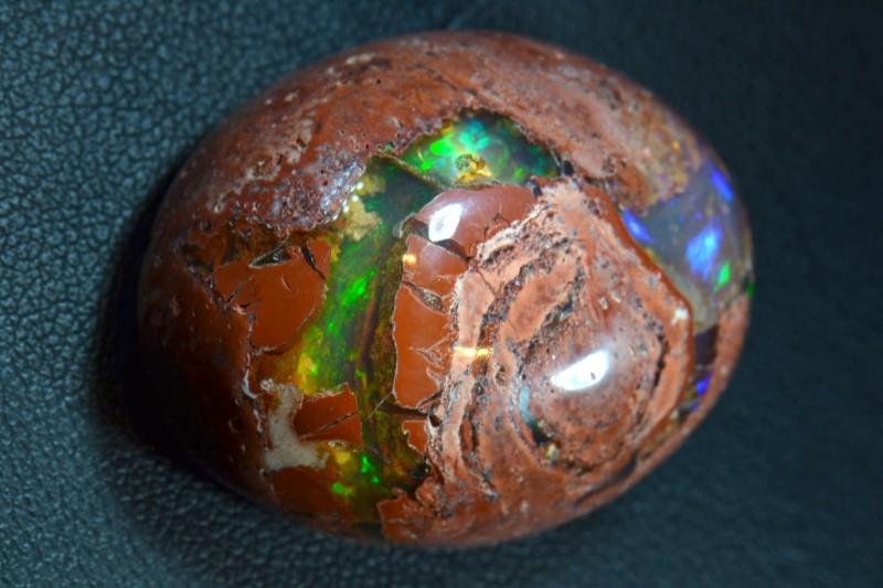 55.5ct Natural Mexican Matrix Cantera Multicoloured Fire Opal