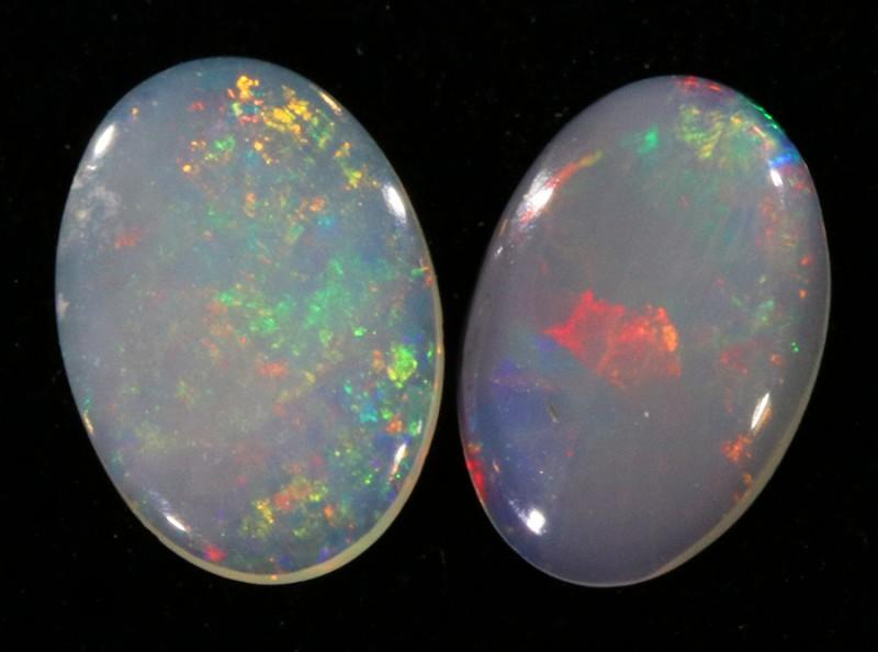 Pair Nice Crystal  opals QOM 1658