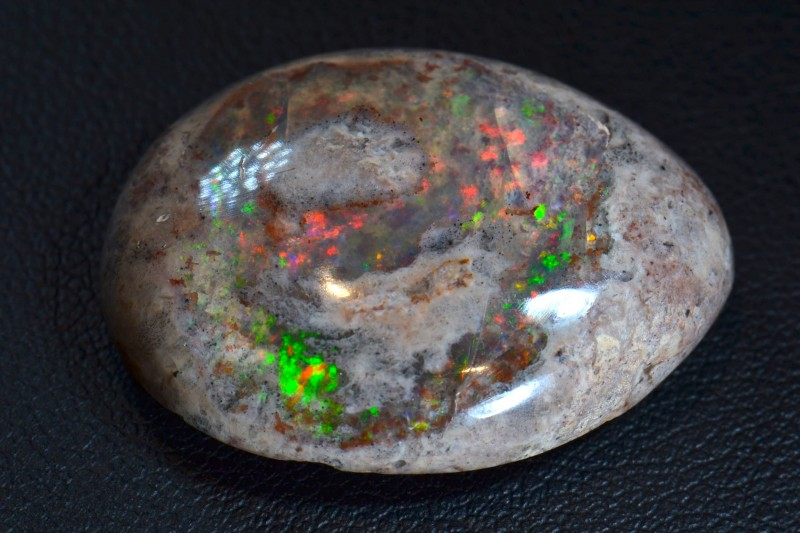 28ct Natural Mexican Matrix Cantera Multicoloured Fire Opal