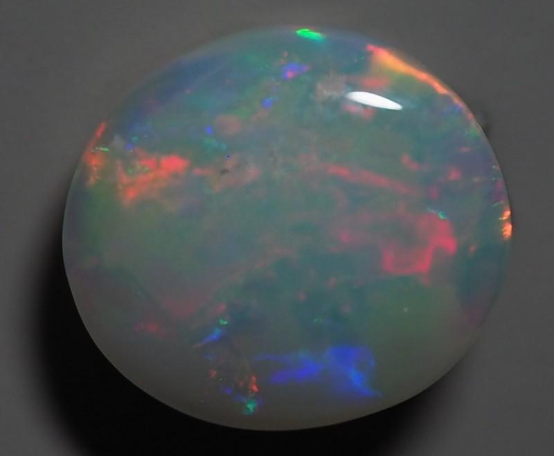 2.65 CT SOLID SEMI BLACK LIGHTING RIDGE OPAL TO256