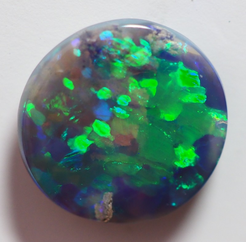 3.05 CT SOLID LIGHTNING RIDGE BLACK OPAL  TO264