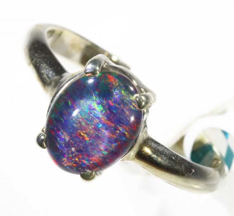 Triplet Opal set in silver CF 1669
