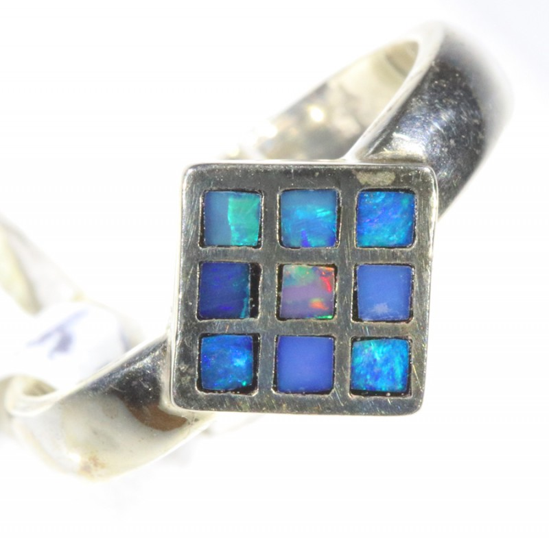 Inlay Opal set in silver CF 1673