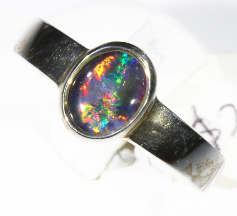 Triplet Opal set in silver CF 1693