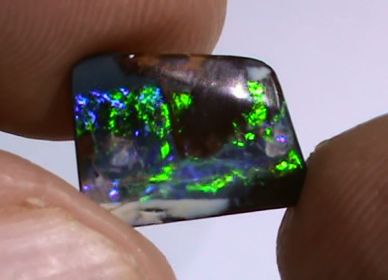 3.95 ct Boulder Opal With Natural Gem Blue Green