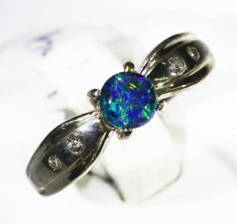 Cute Opal   Triplet set in Silver Rings CF1708