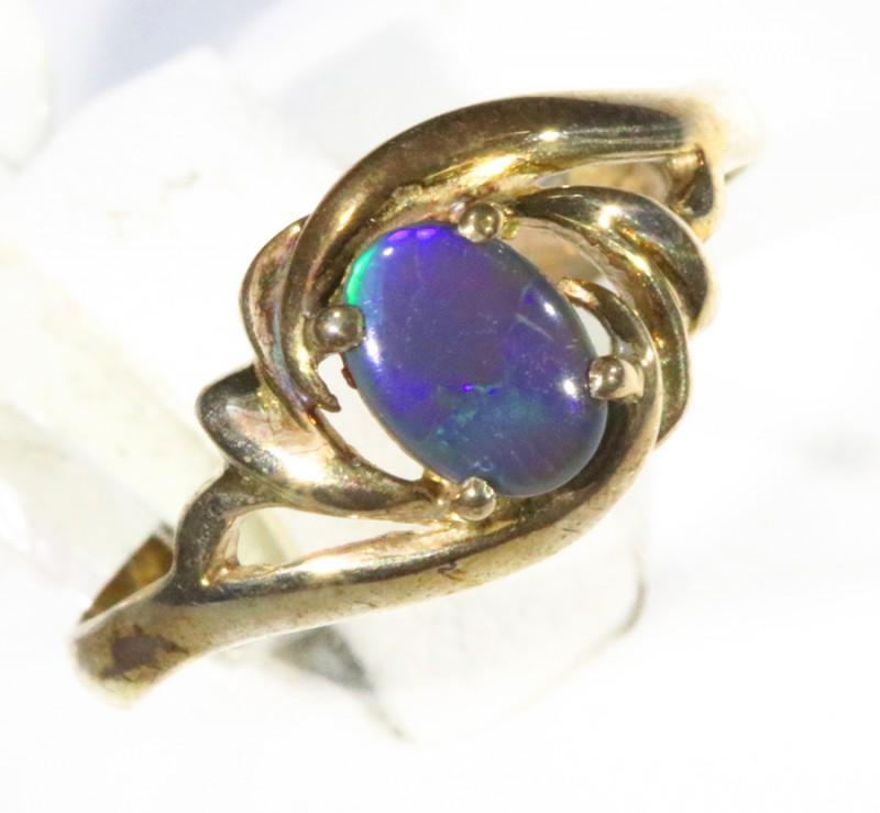 Cute Opal   Solid set in Silver Rings CF1709