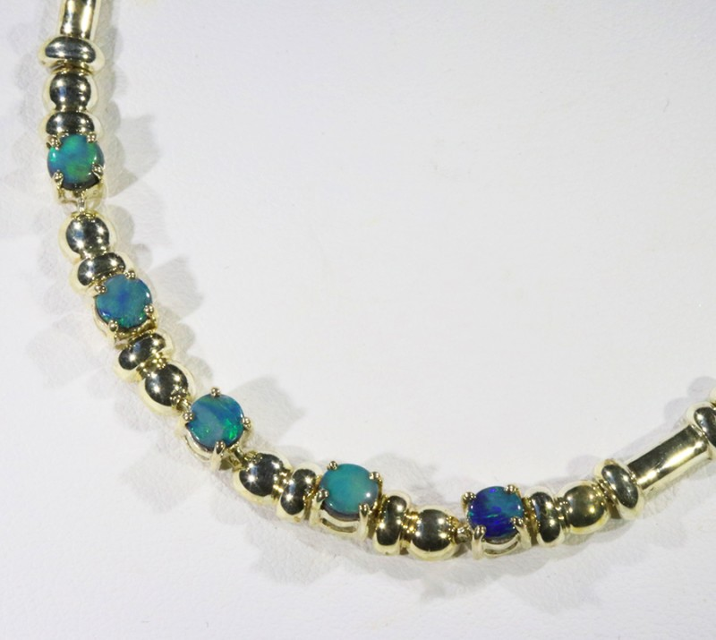 Doublet Opal set in sterling silver bracelets  CF1718