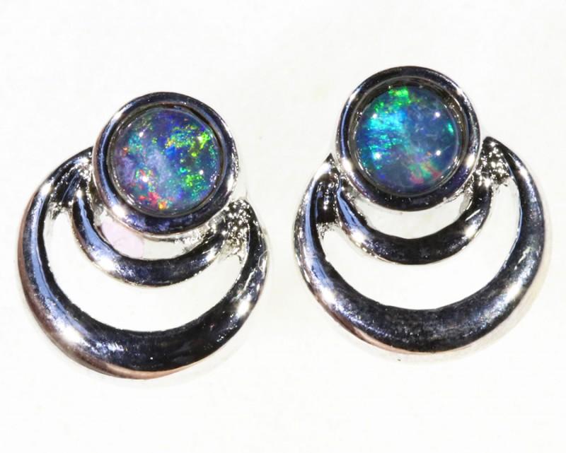 Gem Opal Triplet set in  Earring CF1748