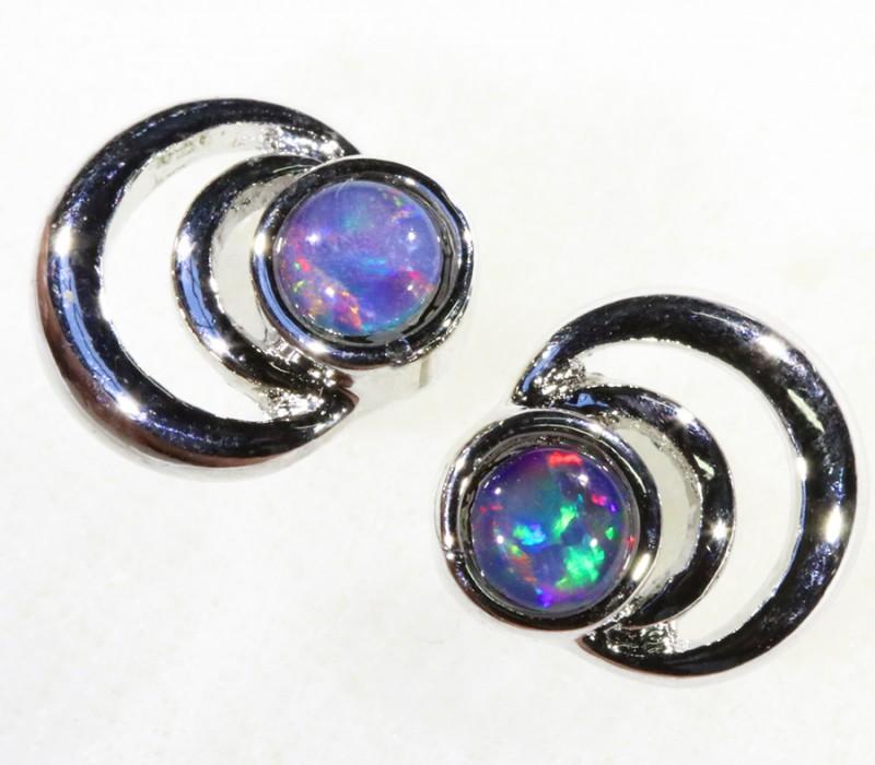 Cute Gem Opal Triplet set in  Earring CF1750