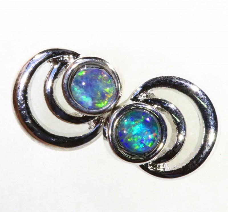 Gem Opal Triplet set in Earring CF1755