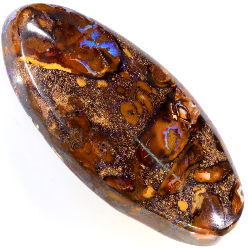 63.10 CTS WELL POLISHED BOULDER OPAL STONE [SO9809]