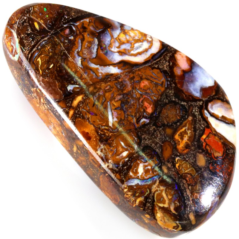 75.35 CTS WELL POLISHED BOULDER OPAL STONE [SO9811]