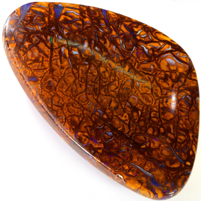 72.05 CTS WELL POLISHED BOULDER OPAL STONE [SO9817]