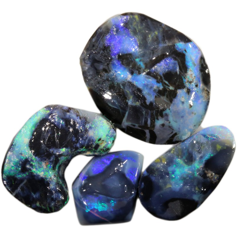 32.55 CTS BLACK OPAL ROUGH PARCEL FOR CARVING [BR5924]8