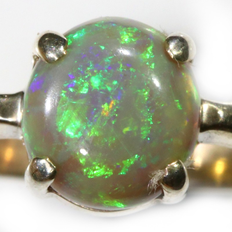 13.80 CTS SOLID OPAL FROM LIGHTNING RIDGE SET IN SILVER [SOJ5440]