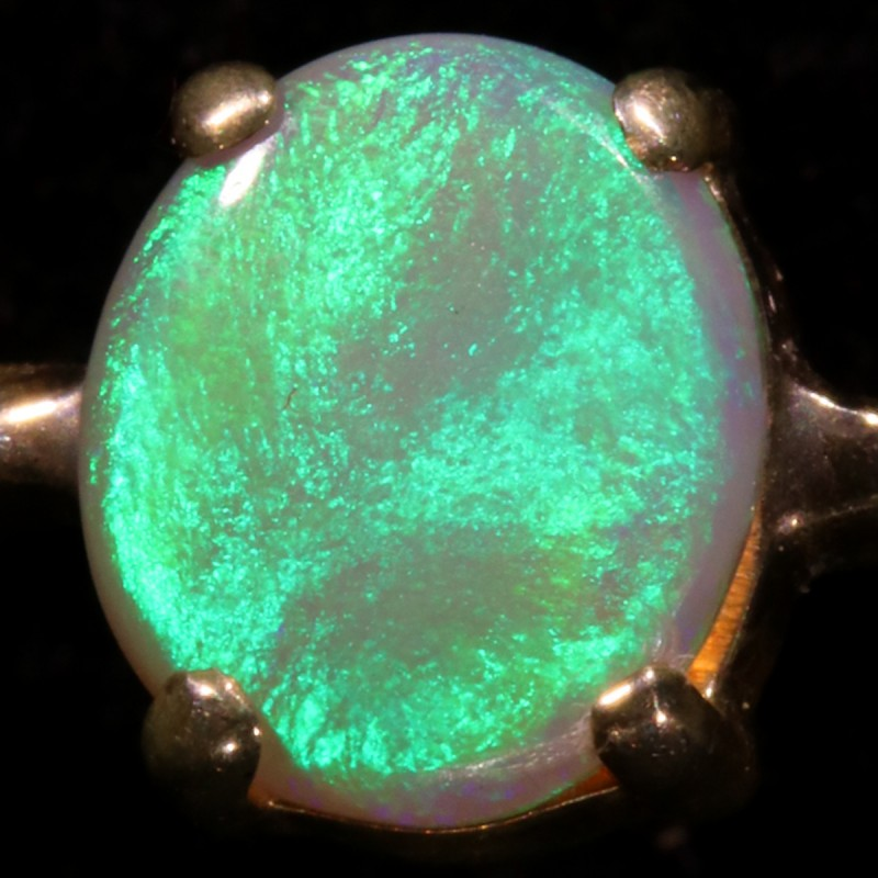 2.68 CTS SOLID OPAL FROM LIGHTNING RIDGE SET IN SILVER [SOJ5445]
