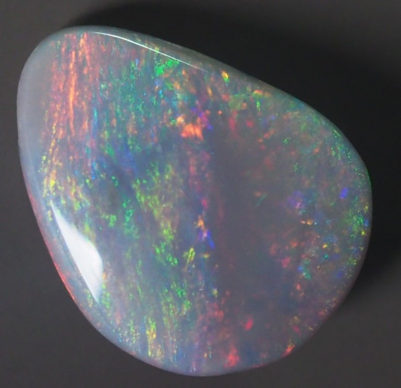 2.20CT SOLID SEMI BLACK LIGHTING RIDGE OPAL GM350