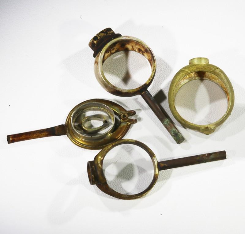 4 xOpal Ring settings for casting CF1786