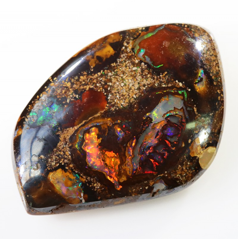 Yowah nut formed in Red  Flash Boulder Opal 29.3 carats PPP1624