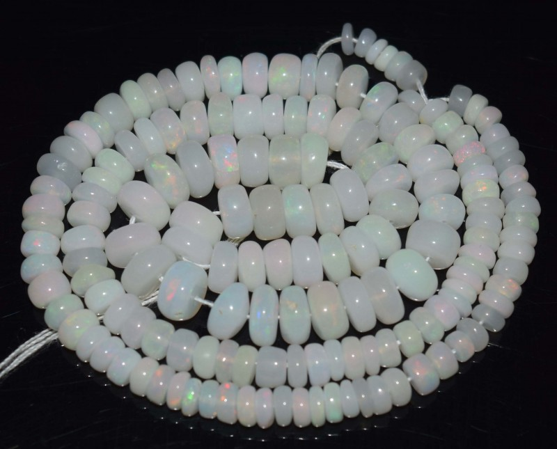 58.00 Ct Natural Ethiopian Welo Opal Beads Play Of Color
