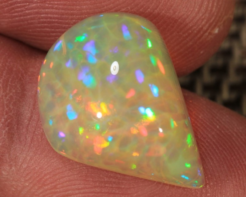 7.51CT~BRILLIANT 5/5 WELO OPAL CAB~RAINBOW PRISM/HONEYCOMB