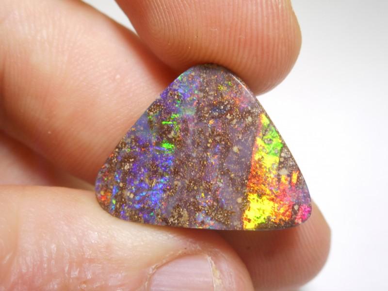 16.6ct Electric Gem Multicolour Boulder Opal Polished Stone