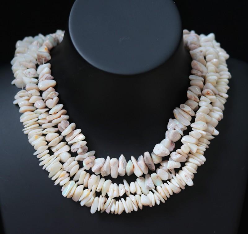 650Cts  three Coober Pedy strand beads QOM1703