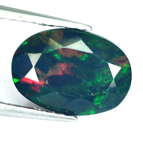 1.33 Cts Smoked Multi Color Play Ethiopian Black Opal