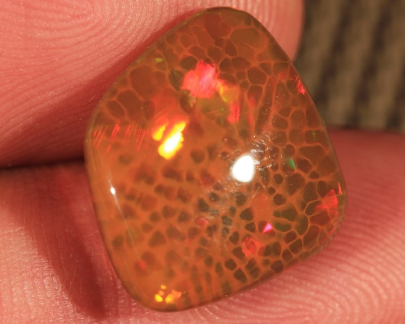 7.57CT~BRILLIANT 5/5 BROWN BASE WELO OPAL CAB~HONEYCOMB