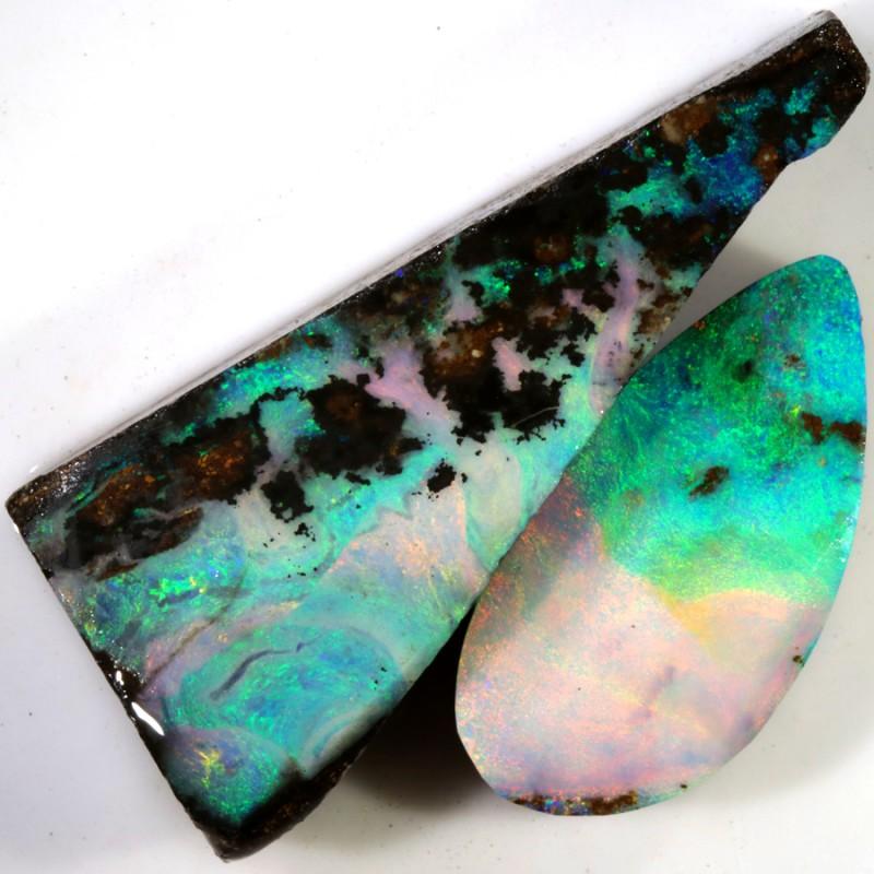 72.80 Cts PLUS EXTRA bONUS  Opalton Boulder Parcel opal rough MMR2287