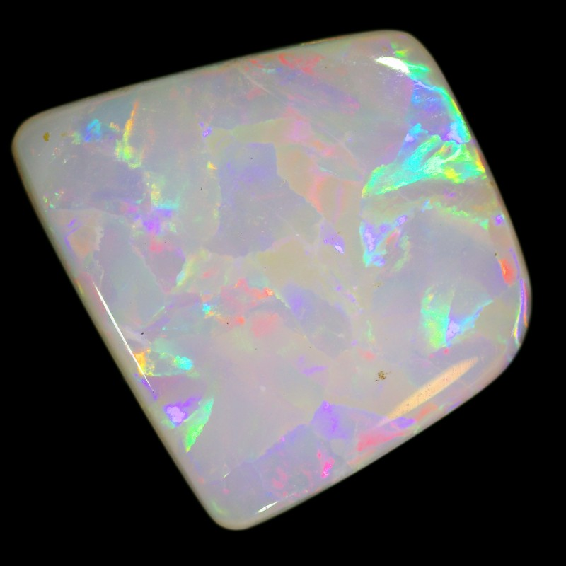 3.1 cts 14x12x2 mm Coober pedy white opal stone CPO504