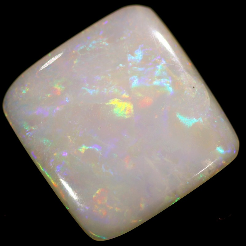 2.9 cts 13x12x2 mm Coober pedy white opal stone CPO513