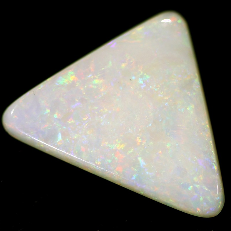 1.7 cts 13x14x2 mm Coober pedy white opal stone CPO517