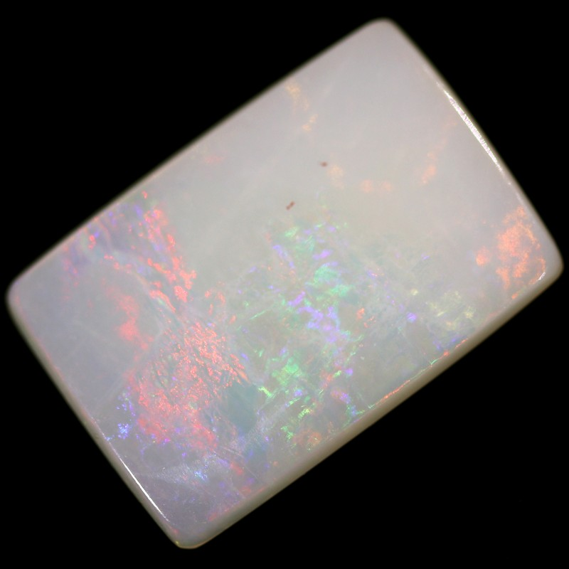 2.4 cts 15x10x2 mm Coober pedy white opal stone CPO518