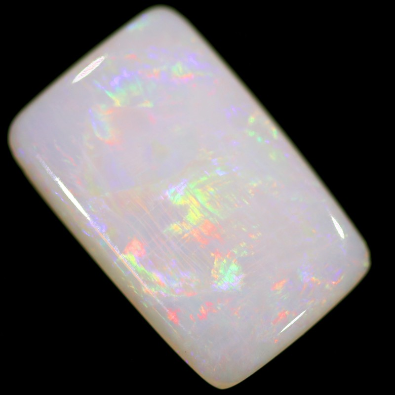 2.2 cts 13x8x2 mm Coober pedy white opal stone CPO521