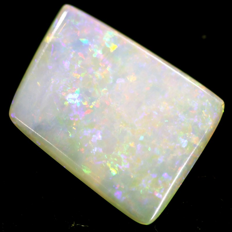 1.7 cts 13x10x2 mm Coober pedy white opal stone CPO526