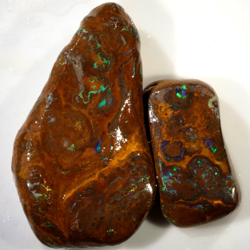 250.00 Cts Green veined Koroit Boulder  opal rub MMR2318