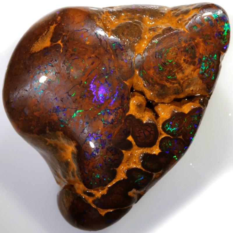 75.00 Cts Green veined Koroit Boulder  opal rub MMR2332