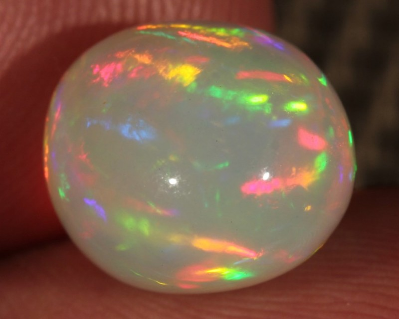 6.84CT~BRILLIANT 5/5 WELO OPAL CAB~ROLLING FIRE