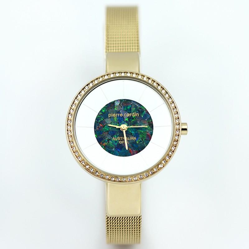 Original Ladies Gold Watch Mosaic Opal
