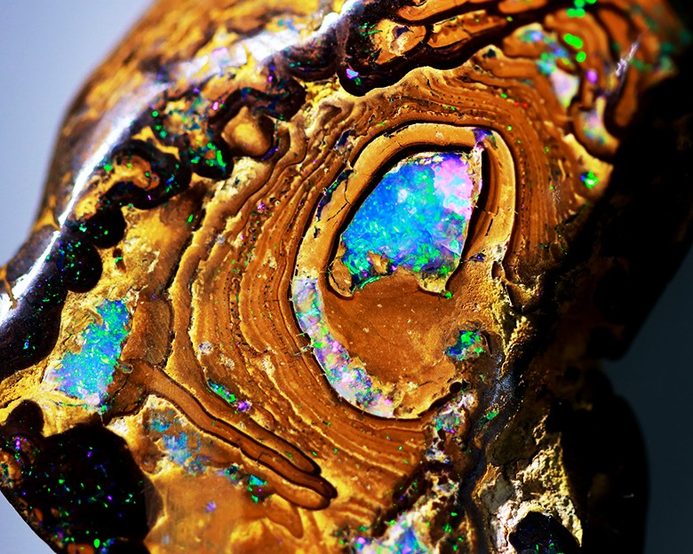Amazing Green Flash Yowah Boulder Specimen Opal 180 CTS CF 1829