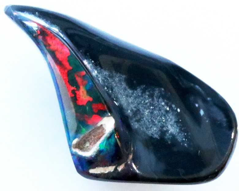 One Only Rich Rainbow Fire Black Opal 9.30 CTS CF 1836